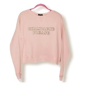 "FIFTH SUN ""Champagne Please"" Short Soft Sweatshirt"
